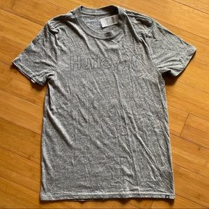 NWT Hurley One & Only Outline Tee charcoal M